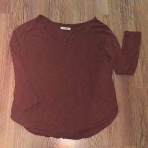 Madewell scoopneck long sleeve Viscose blouse